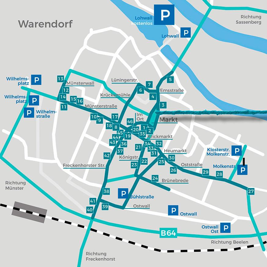 Karte Warendorf